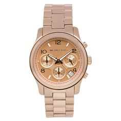 Michael Kors Ladies' Classic Watch In Rose Gold