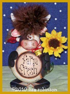 lightbulb crafts | ... pdf cow recycled light bulb prim chick acrylic painting pattern 766