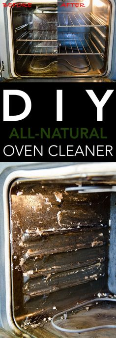 How to Clean Your Oven with a DIY All-Natural Oven Cleaner. All you need is baking soda and vinegar for this CHEAP and effective cleaning hack.