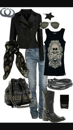 Biker Outfit Ideas Collection pin on my style clothing and accessories Biker Outfit Ideas. Here is Biker Outfit Ideas Collection for you. Biker Outfit Ideas biker chick fashion for the daredevil girls. Biker Chick Outfit, Motorcycle Outfit, Biker Chick Style, Motorcycle Babe, Cozy Fall Outfits, Casual Outfits, Biker Outfits, Rock Chic Outfits, Teen Outfits