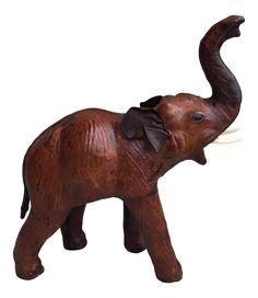 Vintage Bohemian Large Leather Elephant