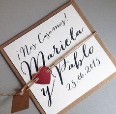 Invitaciones de Matrimonio, partes de matrimonio en santiago