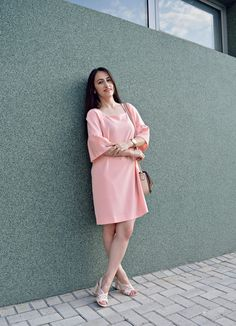 Fashion Blogger, Outfit, ootd, sewing blush dress  Dilek Aspires: MAKING YOUR OWN CLOTHES: WHERE TO START?