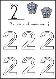 lectoescritura de numeros el 2 ficha 4 Teaching Numbers, Numbers Preschool, Preschool Classroom, Teaching Math, Early Learning Activities, Autism Activities, Infant Activities, Kids Learning, Pre K Worksheets