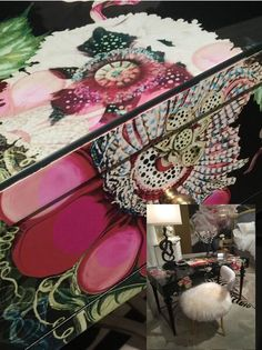 Trend: Pretty Please. The Flower Desk by Cynthia Rowley for Hooker Furniture. C1058 - IHFC. #HPMKT #hpmktSS  #hpmktcoveredinkryptonhome
