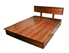 Hand Crafted Derby Platform Bed With Storage by Brushaber Wood Design | CustomMade.com
