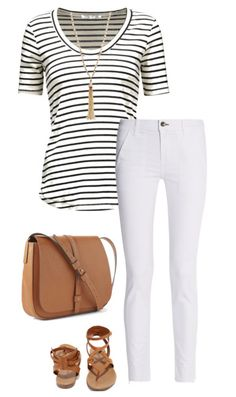 cb26a91776eb5e 8 Ways to Wear a Striped Top This Summer. White Pants OutfitShirt ...