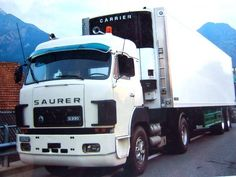 ▐ •♥• SAURER D230 White Truck, Road Transport, Trucks, Busses, Commercial Vehicle, Car Manufacturers, Fiat, Cars And Motorcycles, Jeep