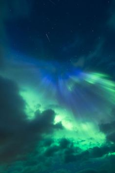 Aurora and meteor Photo by Tommy Eliassen -- National Geographic Your Shot