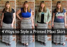 4 Ways to Style a Printed Maxi Skirt