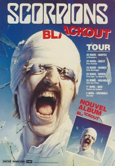 Scorpions French Promotional Ad for Blackout