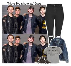 """Triple Ho show w/ 5sos -Aileen x"" by imaginegirlsdsos ❤ liked on Polyvore featuring Topshop, Free People, 5sos, 5secondsofsummer and 5sosoutfits"