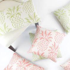 Pineapple Grove Decorative Outdoor Pillow, Mojito Green - Chloe & Olive