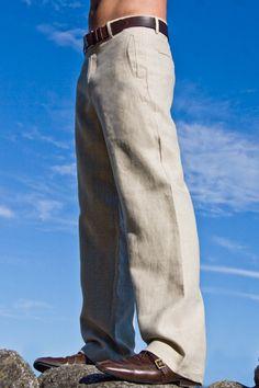 Linen Amalfi Pants - hubby's wedding trousers? I think yes :)