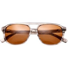 Simplify Torres Acetate Sunglasses ($55) ❤ liked on Polyvore featuring jewelry, layered jewelry and brown jewelry