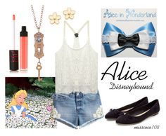 """Alice Disneybound"" by misscoco108 on Polyvore featuring Mode, Disney, H&M, Wet Seal, NARS Cosmetics, Marc by Marc Jacobs, women's clothing, women, female und woman"