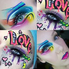 Graffiti Inspired Makeup Collab! I LOVE collaborating with @thebriabeauty it's always so fun to see what she comes up with, and so interesting to see how all artists interpret things differently! Go check out all her amazing work!!  #makeup #graffitiart #noboringmedia