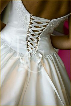 Corset Wedding Dress, love the back of this