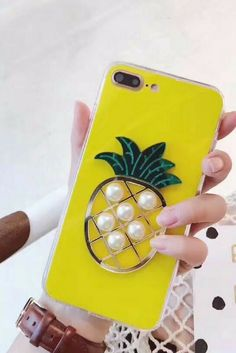 Pineapple iphone 6, iphone 6 plus, iphone 7 & iphone 7 plus clear protective Case For cute girly