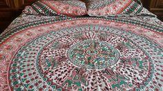 Orange-Pfau-Mandala Bettbezug Set/Duvet von RangeelaaCrafts auf Etsy