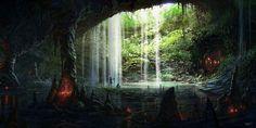 Art Space Fantasy Landscapes | Fantasy Art by Yohann Schepacz - Digital paintings, Fantasy, Scenery ...