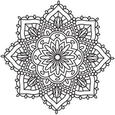 Traditional Indian henna body decoration has inspired this intricate medallion design. Downloads as a PDF. Use pattern transfer paper to trace design for hand-stitching.