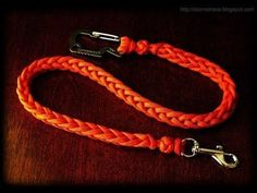 How to make a two-peg spool knit paracord lanyard - YouTube