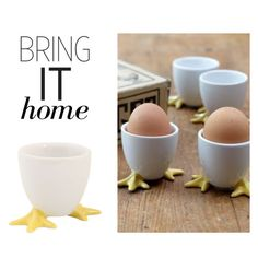 """Bring It Home: Chicken Feet Egg Cup"" by polyvore-editorial ❤ liked on Polyvore featuring interior, interiors, interior design, home, home decor, interior decorating, Stonewall Kitchen and bringithome"