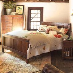 Brown Queen Bed - Bentley Collection | Arhaus Furniture