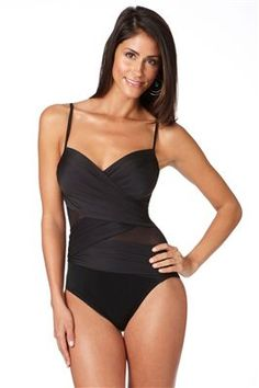 Miraclesuit's Curve Appeal One Piece Lingerie Strap Tank | Everything But Water