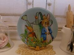 Peter Rabbit Dollhouse Miniature Plate by Twelvetimesmoreteeny, €2.80