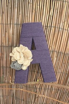 Yarn letters Custom yarn wrapped letters by olivialace on Etsy Yarn Wrapped Letters, Yarn Letters, Diy Letters, Letter A Crafts, Wooden Letters, Diy Home Crafts, Yarn Crafts, Crafts For Kids, Arts And Crafts