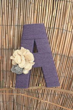 DIY yarn letters!  {olivialace.etsy.com}