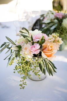 Rustic tin floral centerpiece   Photography: Janae Shields Photography - janaeshields.com  Read More: http://www.stylemepretty.com/california-weddings/2014/05/02/rustic-dawn-ranch-wedding/