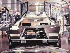 Countach in #Lamborghini Factory. Under construction.