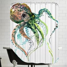 Americanflat Octopus 2 Shower Curtain