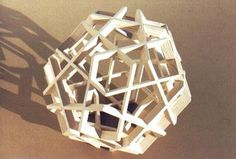 Wood Dodecahedron (open weave) 19 by ~RND Modelshop, via Flickr