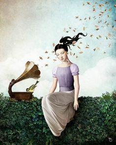 Christian Schloe crea poéticas y surrealistas pinturas