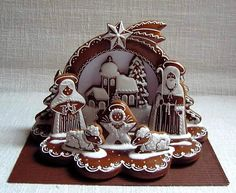 Betlém s krajinkou - fotoalba uživatelů - Dáma.cz Nativity in Gingerbread! Christmas Gingerbread House, Christmas Snacks, Christmas Deco, Christmas Cookies, Christmas Holidays, Gingerbread Houses, Fancy Cookies, Sweet Cookies, Gingerbread Decorations