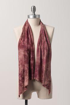 Zavella organic bamboo infinity scarf in wine - viininpunainen huivi