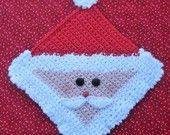 Santa Potholder Crochet PATTERN - INSTANT DOWNLOAD