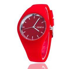 2017 Fashion Ice Cream Color Ultra-thin Fashion Gift Silicone Strap Leisure Watch Geneva Sport Wristwatch Women Jelly Watches