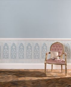 Gothic Dado Paintable wallpaper by Lincrusta