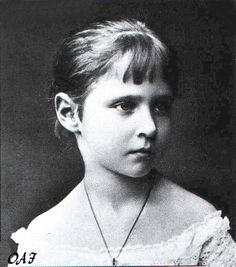"""Alix of Hesse as a child.  Later Tsarina of Russia. Alix, or """"Sunny"""" as she was called, and Nicky met when she was 12 and went to Russia for the wedding of his uncle to her sister in 1884. She said she knew then he was """"The One"""" and carved their names on the window of the Peterhof Palace !"""