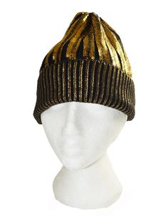 Gold foil Black ribbed beanie hat by WigwamShop on Etsy Beanie Hats, Makeup Addict, Knitted Hats, Winter Hats, Gold Foil, Trending Outfits, Unique Jewelry, Handmade Gifts, Cute