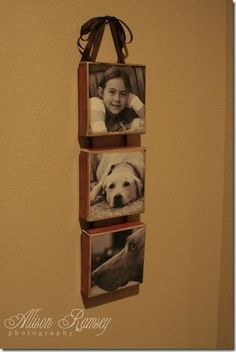Do-it-yourself canvas photos.