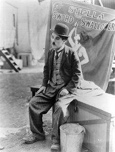 """Charles Chaplin en """"El circo"""", 1928"""