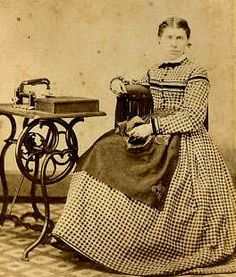 MYTH: Everything in the Civil War was hand-sewn because they didn't have sewing machines then.  EXPLODED: The sewing machine had been invented quite some time before and many people had them. This is picture of an 1860s lady with her sewing machine.