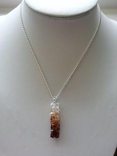 Swarovski Chocolate Ombre Crystal Pendant Necklace by SparklingYouDesigns on Etsy
