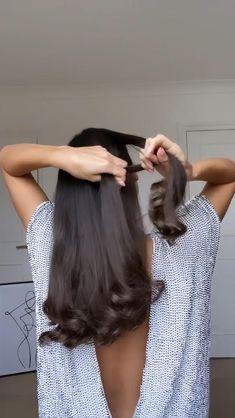 Curls For Long Hair, Easy Hairstyles For Long Hair, Cute Hairstyles, Hair Tutorials For Medium Hair, Medium Hair Styles, Curly Hair Styles, Hair Tips Video, Hair Videos, Diy Hair Treatment